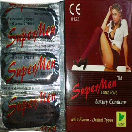 Giá bán Bao Cao Su SuperMen(Hộp 100 cái) nhập khẩu